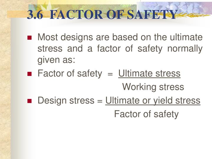 how to choose a factor of safety
