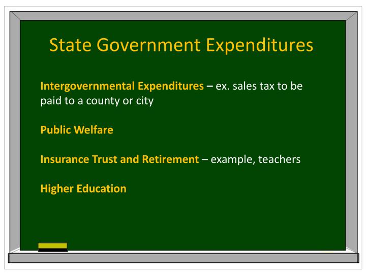State Government Expenditures