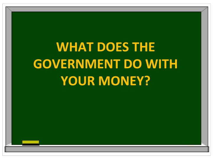 What does the government do with your money