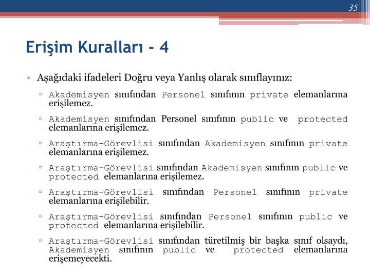 Erişim Kuralları - 4