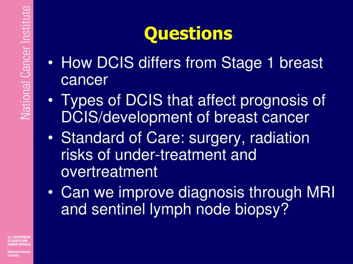 Are right, Dcis and breast cancer what