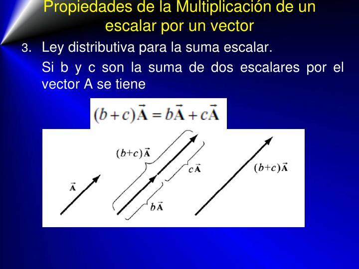 Propiedades de la Multiplicación de un escalar por un vector