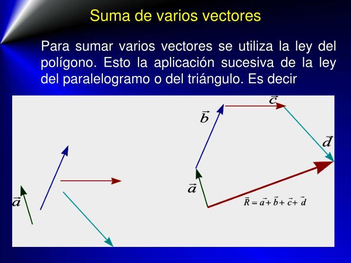 Suma de varios vectores