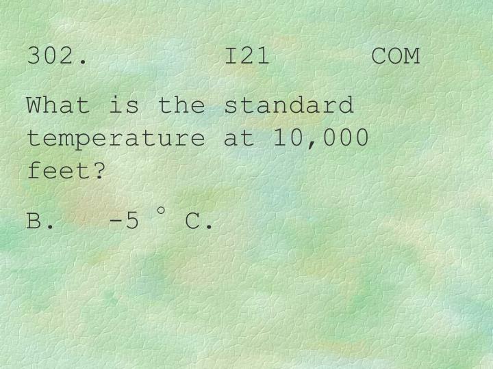 302.        I21      COM