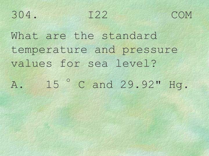 304.       I22         COM