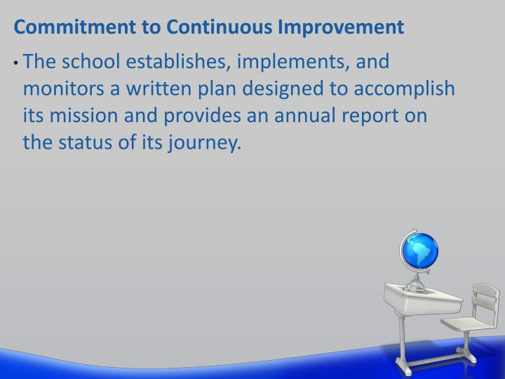 Commitment to Continuous Improvement