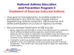 national asthma education and prevention program ii treatment of exercise induced asthma