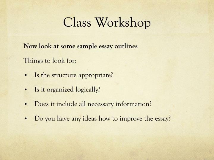 Class Workshop