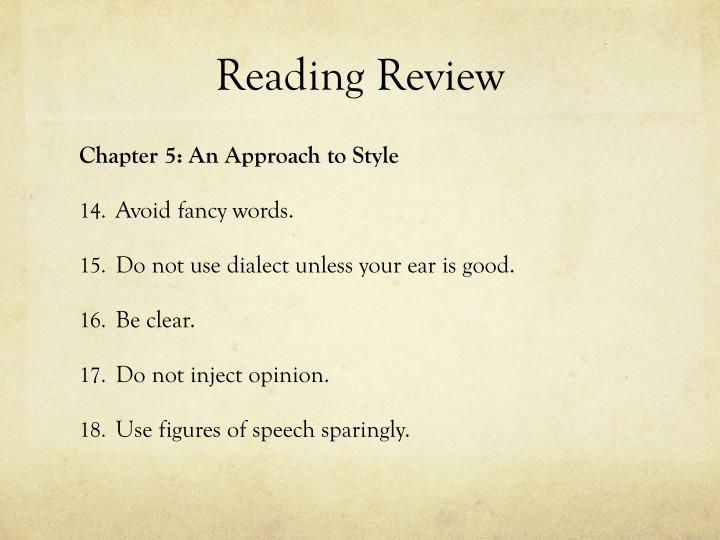 Reading Review