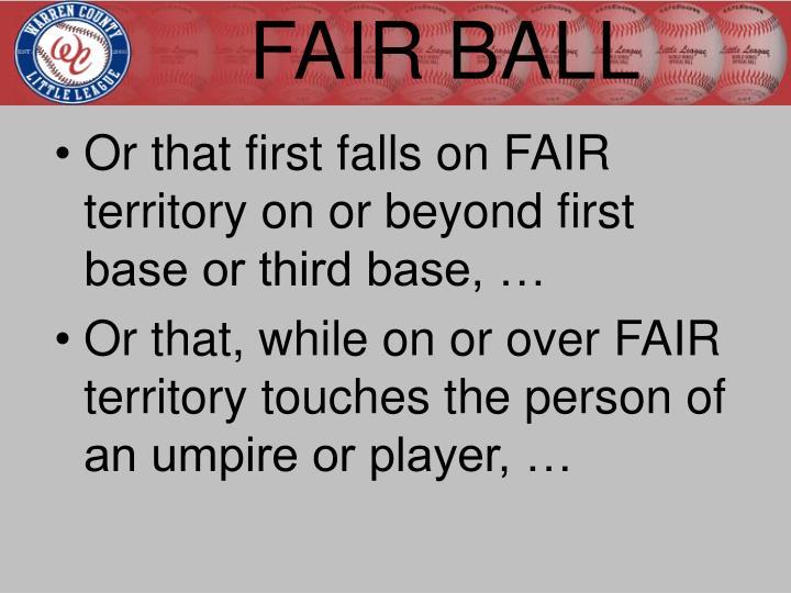 FAIR BALL