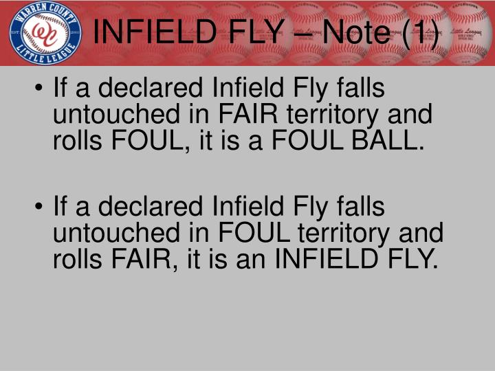 INFIELD FLY – Note (1)
