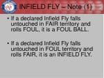 infield fly note 1