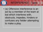 interference types1