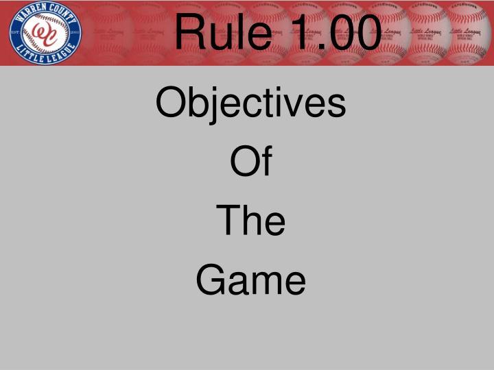 Rule 1.00