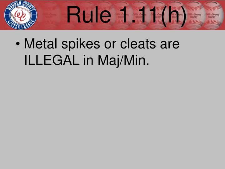 Rule 1.11(h)