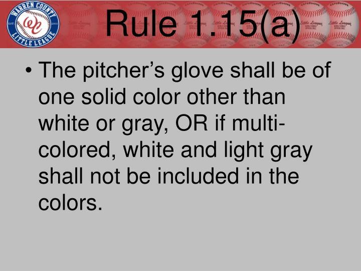 Rule 1.15(a)