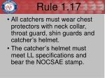rule 1 17