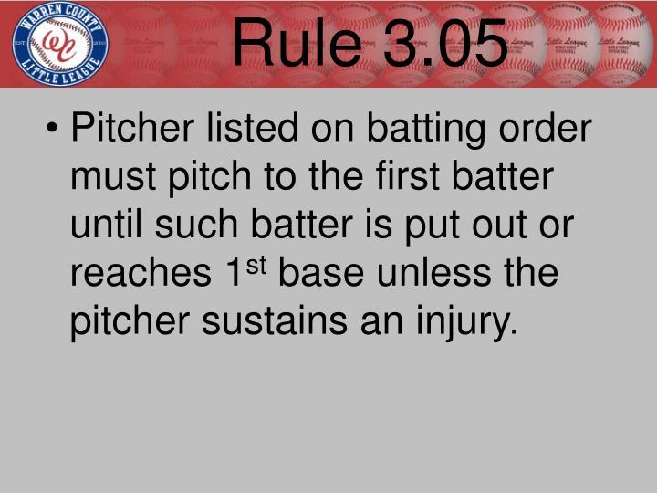 Rule 3.05