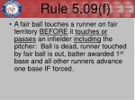 rule 5 09 f