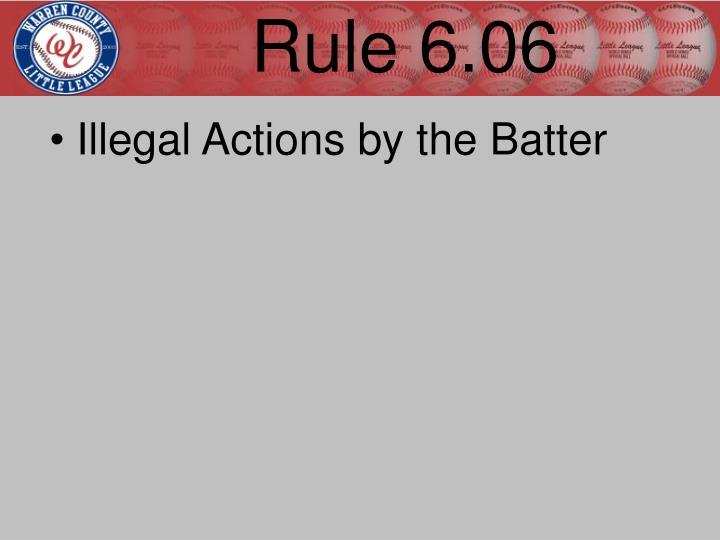 Rule 6.06