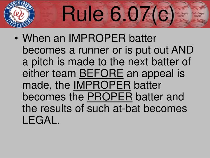 Rule 6.07(c)