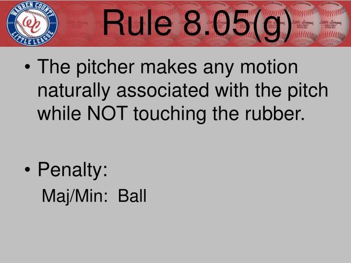 Rule 8.05(g)