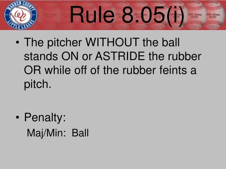 Rule 8.05(i)