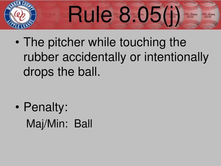 Rule 8.05(j)