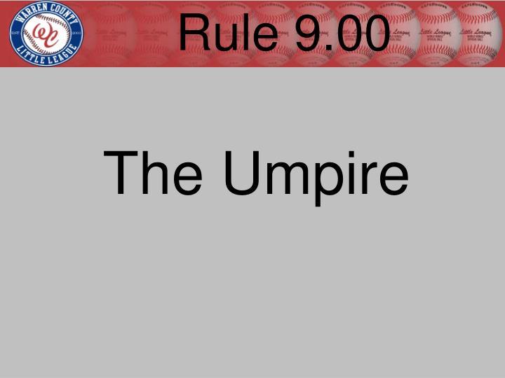 Rule 9.00
