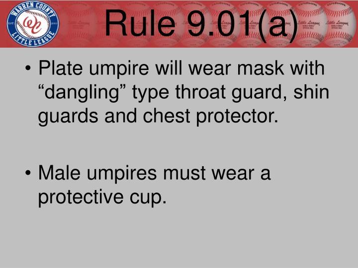 Rule 9.01(a)