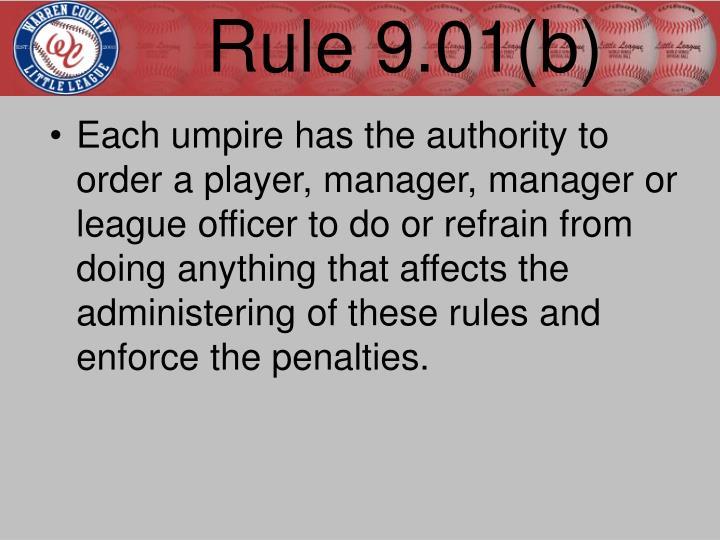 Rule 9.01(b)
