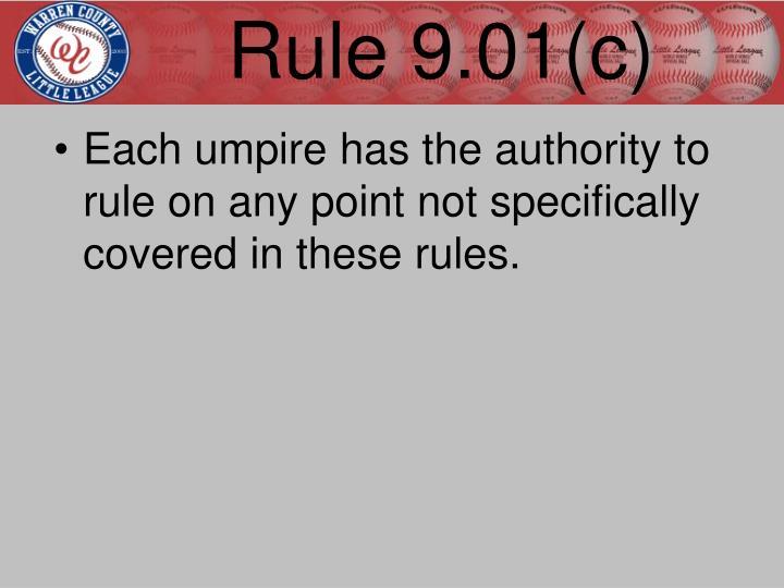 Rule 9.01(c)