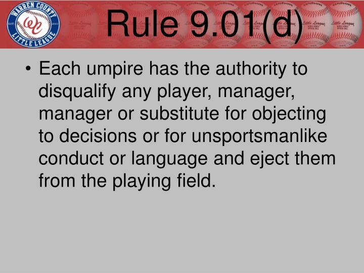 Rule 9.01(d)