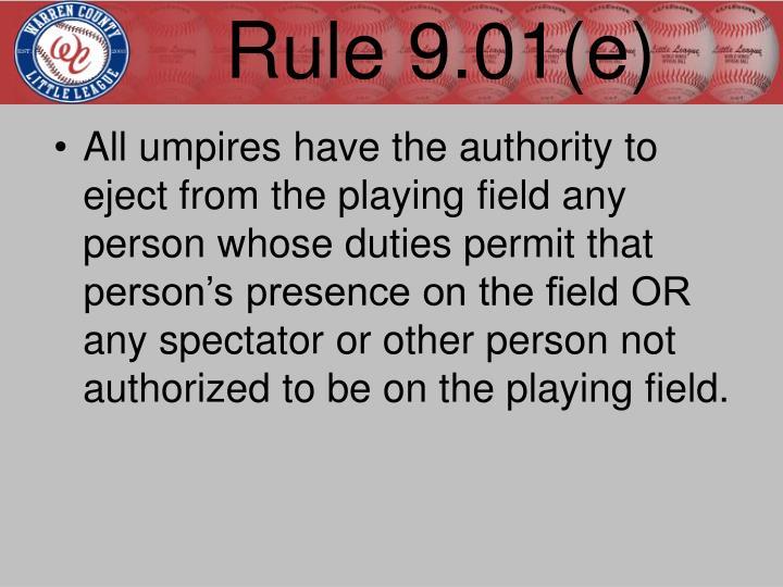 Rule 9.01(e)