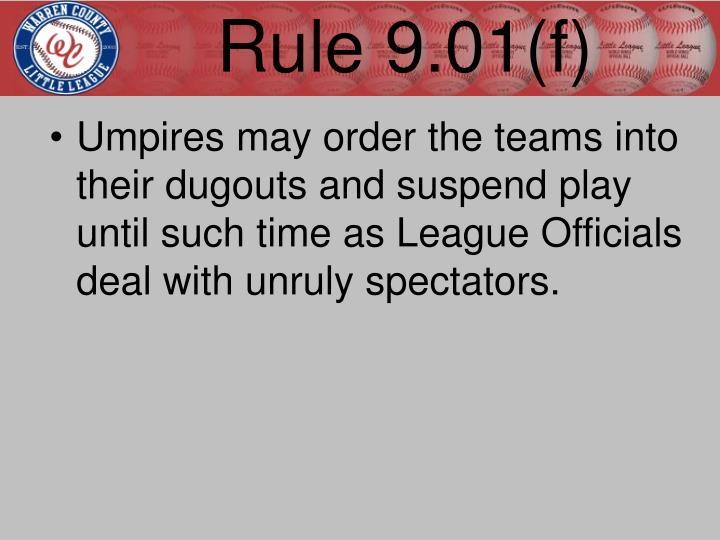 Rule 9.01(f)