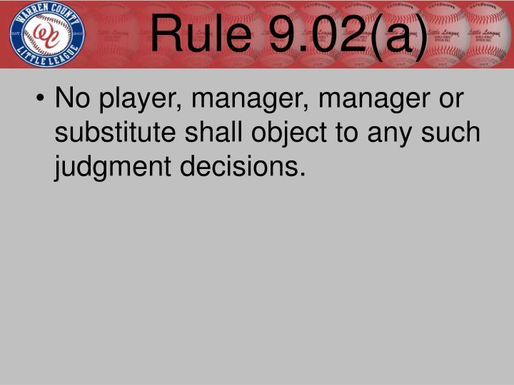 Rule 9.02(a)