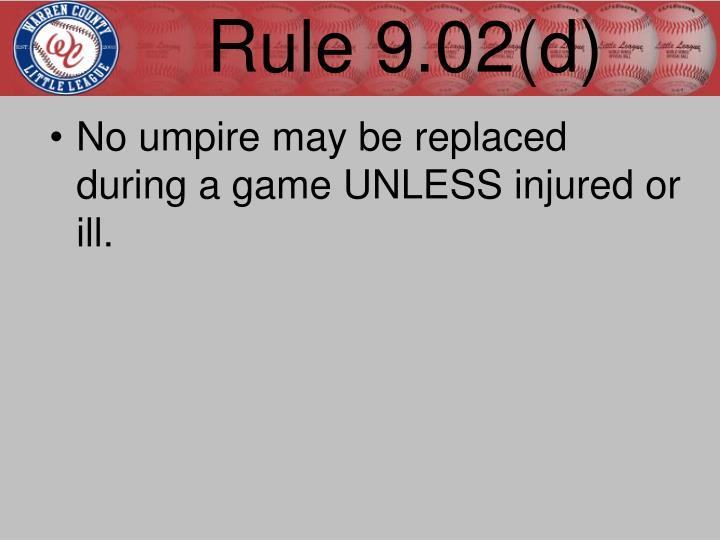 Rule 9.02(d)