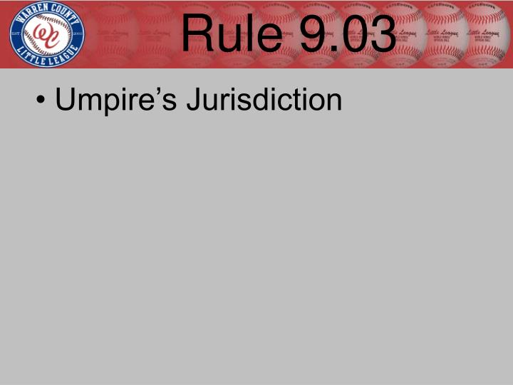 Rule 9.03