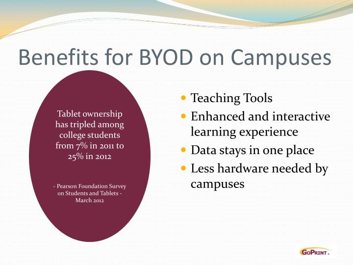 Benefits for BYOD on Campuses