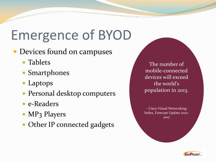 Emergence of BYOD