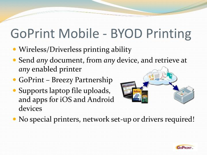 GoPrint Mobile - BYOD Printing