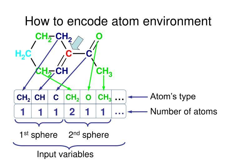 How to encode atom environment