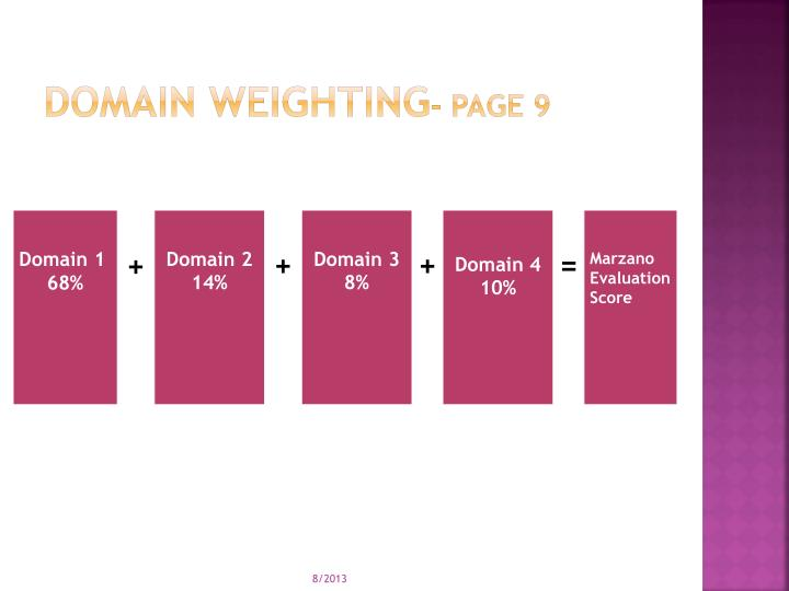 Domain weighting