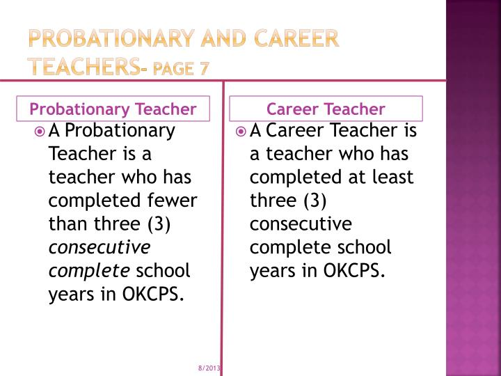 Probationary and Career teachers