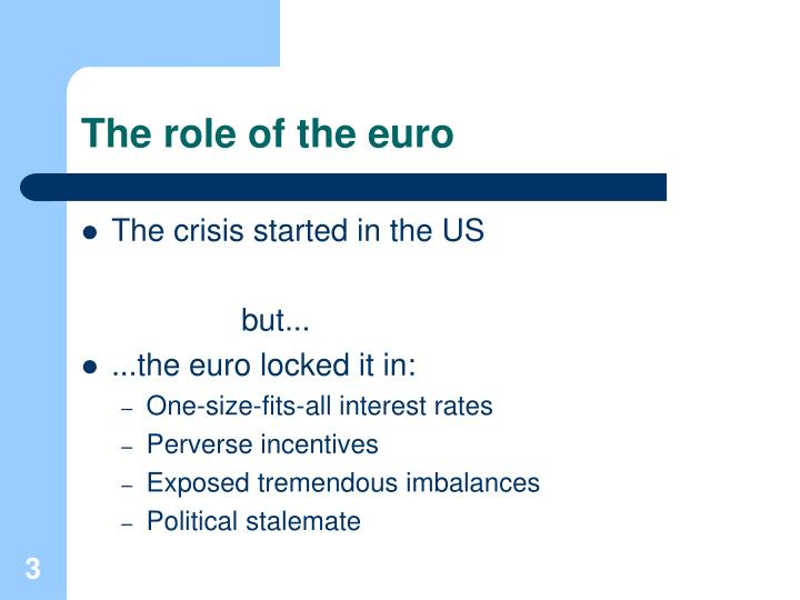 The role of the euro