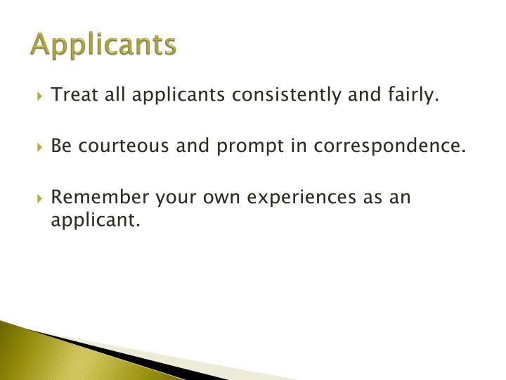 Applicants