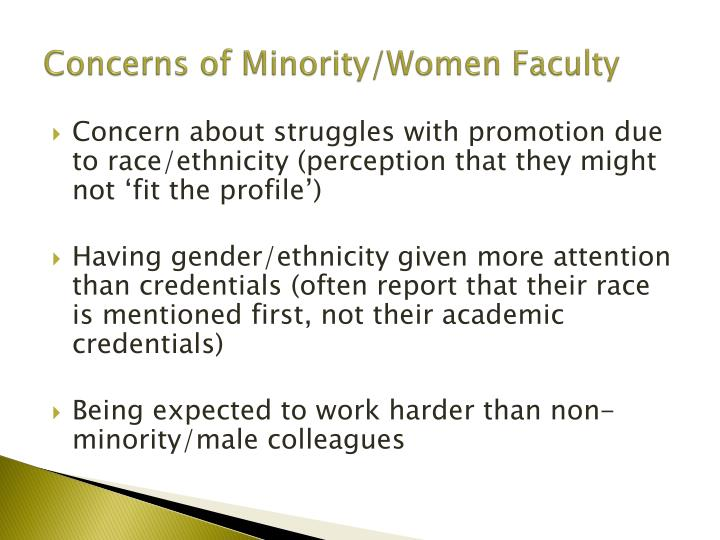 Concerns of Minority/Women Faculty