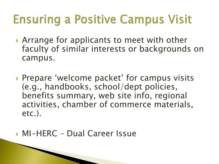 Ensuring a Positive Campus Visit