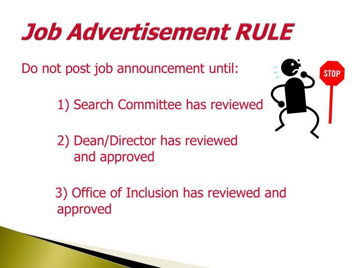 Job Advertisement RULE