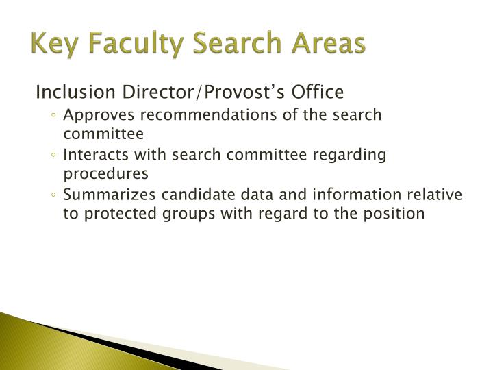 Key Faculty Search Areas
